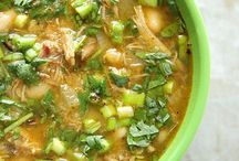 Pork Chilli Verde Soup / Mexican