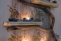 dřevo dekorace