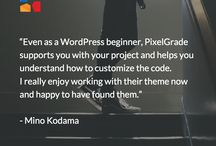 PixelGrade Testimonials / Kind thoughts and testimonials from our beloved clients. They keep our wheels sppining.