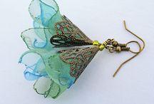 сережки из ткани