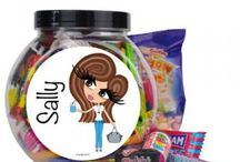 ♡ Personalised Sweetie Jar / HunniBunni Sweetie Jars are brilliant little gifts and come fllled with a choice of either assorted sweets, Haribo or Love Hearts. When these have all been enjoyed they can either be refilled or the jars can be used as a pretty personalised storage jar for other bits and bobs, plus they're not made from glass so that they're safe for children! Visit our website: www.hunnibunniboutique.co.uk