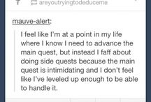 tumblr posts / Because Tumblr. One can't describe it.