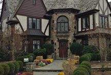 Hus i Tudors stil .