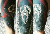 My Horror Sleeve in progress / Horror movie tattoo sleeve, current in progress. 5 sessions down. Scream, Billy the Puppet (Saw), Dr. Hannibal Lectar, Michael Myers and Pinhead.