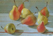 pintura de frutos