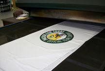 PRINTING PACKER FAN TOURS TABLE CLOTHS / Packer Fan Tour table cloths 3 color design