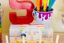 Cassidy & Sophia Art Themed Birthday