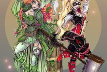 poison ivy and Harley  Qinn