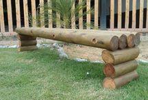 troncos e bambus