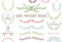 brushes, printables and freebies