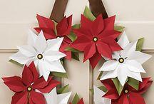 Poinsettia wreath / Poinsettia wreath