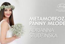 Kwiaty Polskie, Metamorfoza Panny Młodej, Adrianna Studzińska / Zobacz metamorfozę Adrianny Studzińskiej. Ada szukała pomysłu na stylizację ślubną. Wybrała fryzurę i make-up w Sharley.