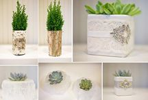 Eco-chic Wedding Decor  / Inspiration and examples of eco-friendly floral and decorations to consider for sustainable weddings.