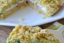 sbrisolona con zucchine spek robiola