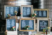 Chalkboard navy and gold theme