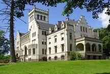 Trzebiechowo - Pałac / Pałac w Trzebiechowie przebudowany w XIX z XVII-wiecznego dworu, przez Henryka VII von Reuss. Obecnie mieści się w nim szkoła.  Palace in Trzebiechowo from XIX century. At present a school is located in it.