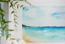 water paint ocean