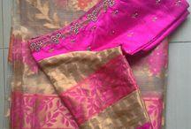 tissue kola saree with blouse