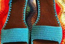 πλεκτά παπούτσια παντοφλες