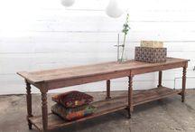 antique draper table
