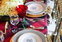 Tablescapes & Home Decor | Black + Gold / Black & Gold Home Décor | Adorn your tablescapes with beautiful vintage china dinnerware. Adding pops of gold gives your tabletop an elegant touch to the home. Our gold rimmed dishes look stunning with a custom monogram. SHOP our monogrammed white porcelain china dinnerware http://www.sashanicholas.com