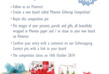 Phoenix Giftwrap Competition / Pin pictures of your beautifully wrapped gifts to go in the draw to win a $100 Phoenix giftwrap pack