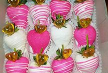 covered strawberries