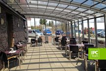 Restaurant Enclosures / Retractable enclosures for restaurants, hotels and cafes - HoReCa - keep your customers protected against bad weather. In good conditions - remove the enclosure. http://www.enclosure.guru