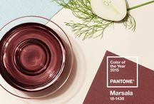 "Marsala - Pantone 2015 color of the year / #Marsala ""enriches our mind, body and soul, exuding confidence and stability,"" says Leatrice Eiseman, executive director of the Pantone Colour Institute, in the announcement. Pantone described the color as ""a naturally robust and earthy wine red."" Pantone Color Institute's Leatrice Eisman said, ""This hearty, yet stylish tone is universally appealing and translates easily to fashion, beauty, industrial design, home furnishings and interiors."" / by CoverCouch - Custom IKEA covers"