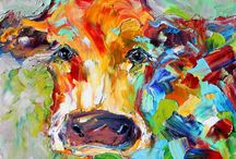 Animals / Oil paintings / by Monique Derooy