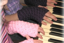 Crochet-fingerless gloves / by Vicki Loch Staggs