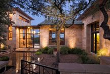 Lost Gold Cave by LaRue Architects / Resting gently atop a hill, this large hill country contemporary home has a view of downtown Austin like no other. It sports an extensive photovoltaic system, an organic garden, pool, courtyards, and covered outdoor living spaces. The detached guest house and home office suite provides a secluded retreat and a private getaway.