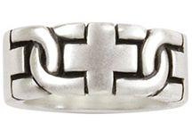 Christian Rings for Men / Custom Made Sterling Silver Men's Christian Rings - Made in the U.S.A.