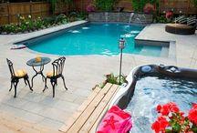 Vinyl Pools / Beautiful vinyl pools designed and built by Gib-San Pools - see more at http://pooldesignandbuild.ca/pool-design/vinyl-pools