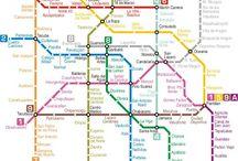 red  del metro