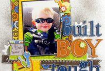 Boy 2 page layouts