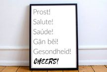 Text Prints / Fun text prints that are simple for any home or space
