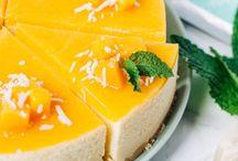 Mango (no bake) cheesecake