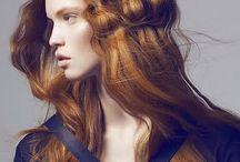 Model hair red