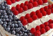 Red, White & Blue / Patriotic recipes, party ideas and DIY crafts that celebrate the USA.