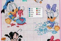 Disney mikke mus, mini langbein og pluto,