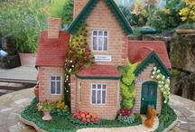 Casas. Houses Cakes.  Ideas...