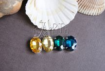 cabochon glass beads brass settings jewelry findings supplies