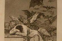 Francisco Goya: los Caprichos / I Caprichos sono 80 tavole realizzate con le tecniche di acquetinte e acquaforte, create da Goya durante gli anni 90 del Settecento.