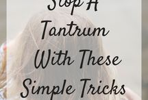 Toddler Tantrum Tips / Parenting advice and tips on controlling temper tantrums during the toddler years.  Simple ways to calm down your toddler and prevent meltdowns.