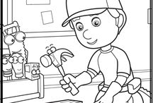 6 Pin Handy Manny Coloring Pages