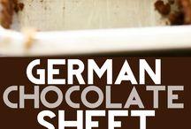 German Chocolate Sheet Cake
