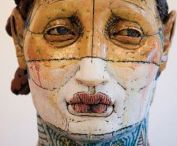 Ceramic Faces and Heads -surfaces