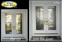 Wrought Iron front doors / Wrought iron fiberglass front doors for Florida homes and acceptable for HOA approval and modern subdivisions. Tampa homes that are new do not usually install antique doors in new communities
