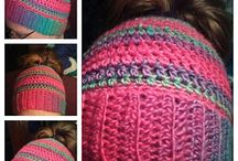 Crochet and knitted hats